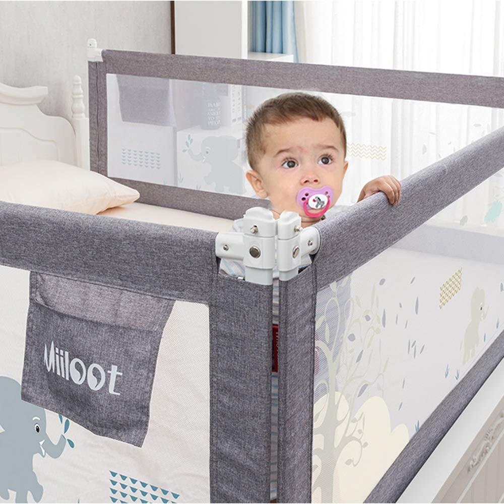 Bettgitter HUO Bettschutzgitter Extra Hoch Super Praktisch Gitter Ist Stabil Rausfallschutz F/ür Baby Klappbares Betten /& Boxspringbetten Farbe : Gray, gr/ö/ße : 120cm