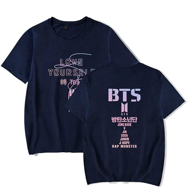 Unisex KPOP de BTS Estampado Top Bangtan Boys Sudaderas de Sport Manga Corta Blusa Suga Jin Jimin Jung Kook J-Jope Camisetas Casual Impresión Tops: ...