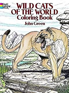 Wild Cats Of The World Coloring Book Dover Nature