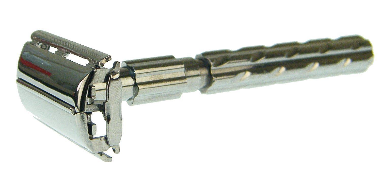 Shark parker 22r - Maquinilla de afeitar tradicional (apertura de mariposa, doble hoja, 10 cuchillas dobles cromadas): Amazon.es: Salud y cuidado personal