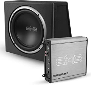 Belva 500 Watt Complete Car Subwoofer Package includes 10-inch Subwoofer in Ported Box, Monoblock Amplifier, and Amp Wire Kit