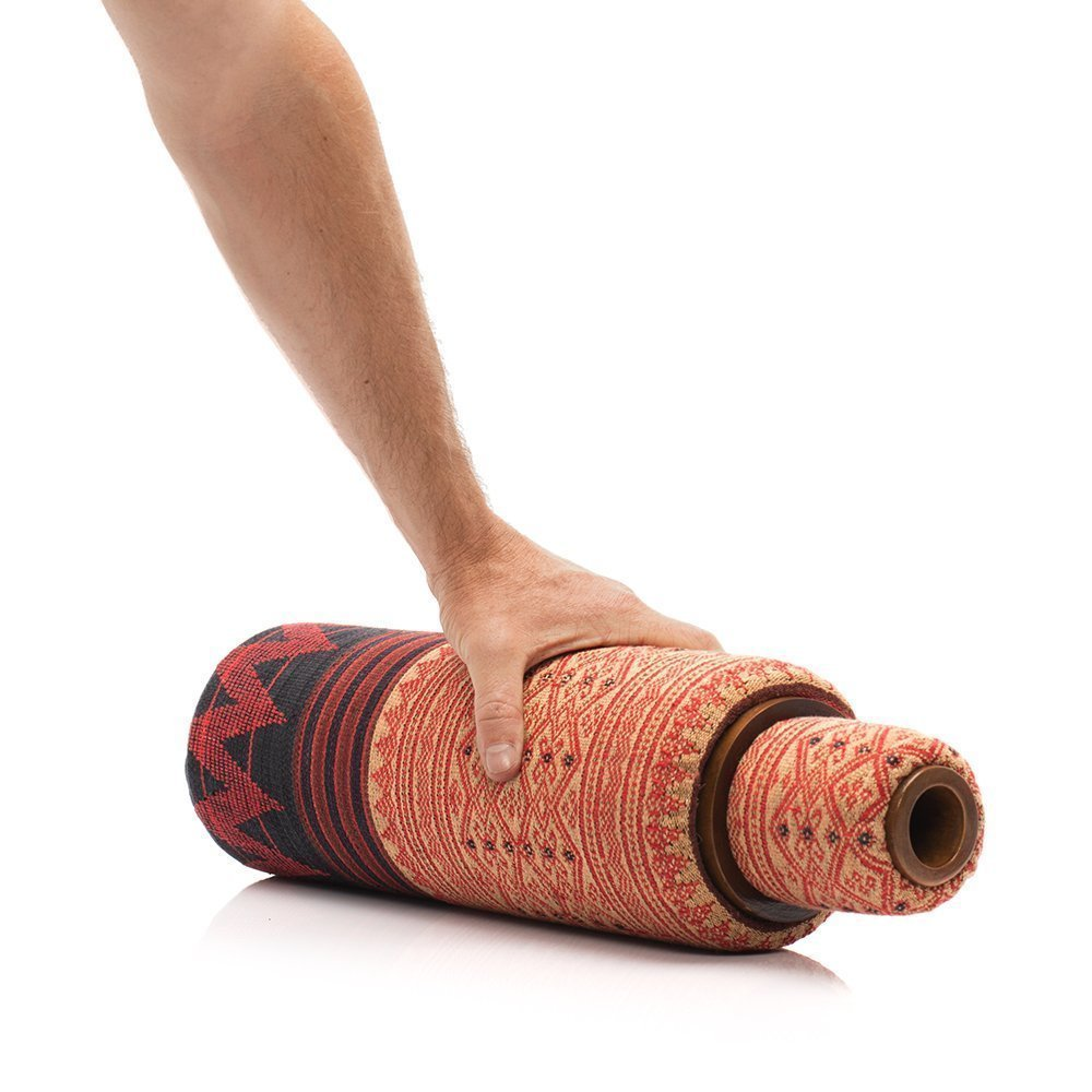 Lanna Roller ''Classic Nesting Set'' with Naga Cover - 2 Piece Natural Massage Foam Roller Set | 5'' Dia + 3'' Dia by Om Roller (Image #3)