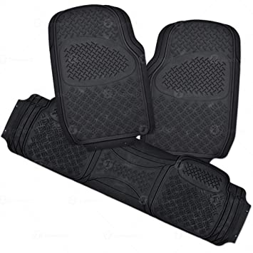 Zone Tech Car Floor Mats Ultra Premium 100 Rubber 3 Piece Set