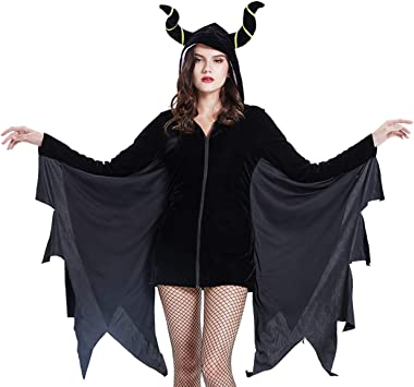 THEE Disfraz de Murciélago para Mujer Halloween Vampiro Cosplay ...