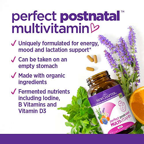 New Chapter Perfect Postnatal Vitamins, Lactation Supplement with Fermented Probiotics + Wholefoods + Vitamin D3 + B Vitamins + Organic Non-GMO Ingredients - 192 ct (Packaging May Vary) by New Chapter (Image #3)