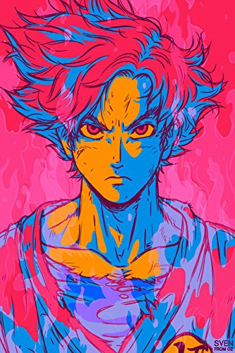 Aquire Large PVC Vinyl Son Goku Hope Poster and Sticker 12X18