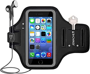 iPhone SE (2016) 5S 5 Armband, JEMACHE Gym Running Jogging Exercise Workout Sport Arm Band Case for iPhone 5/5S/SE (2016) 4.0 inch with Card/Key Holder (Black)