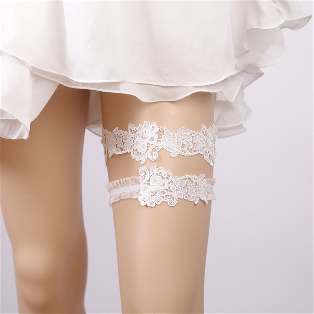 Finaze Wedding Lace Garter for Bridal (MD0007) by Finaze (Image #3)