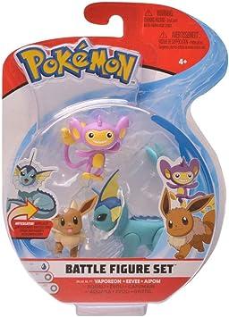 PoKéMoN Figure Battle 3-Pack, Aipom, Eeevee & Vaporeon, Newest ...