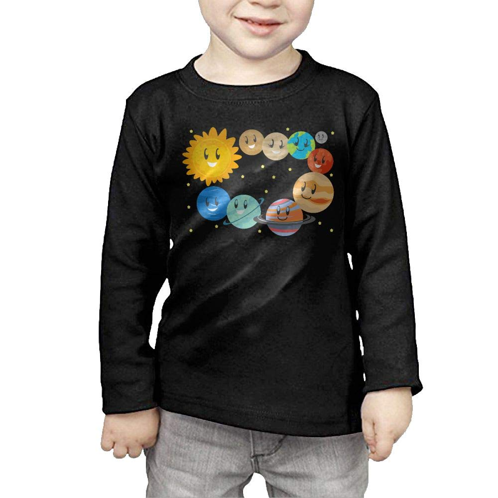 Fryhyu8 Newborn Kids Solar System Printed Long Sleeve 100/% Cotton Infants Tops