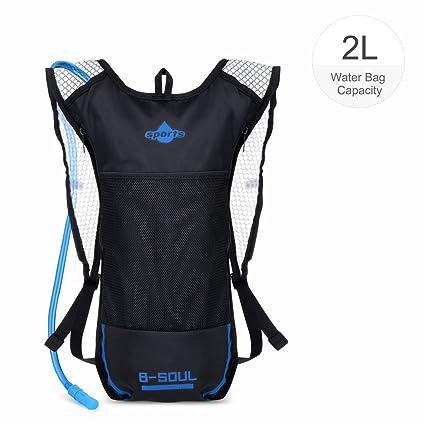 Vbiger Mochila de Hidratacion para Trail Running / Bicicleta / Ciclismo (Negro 2, 2L