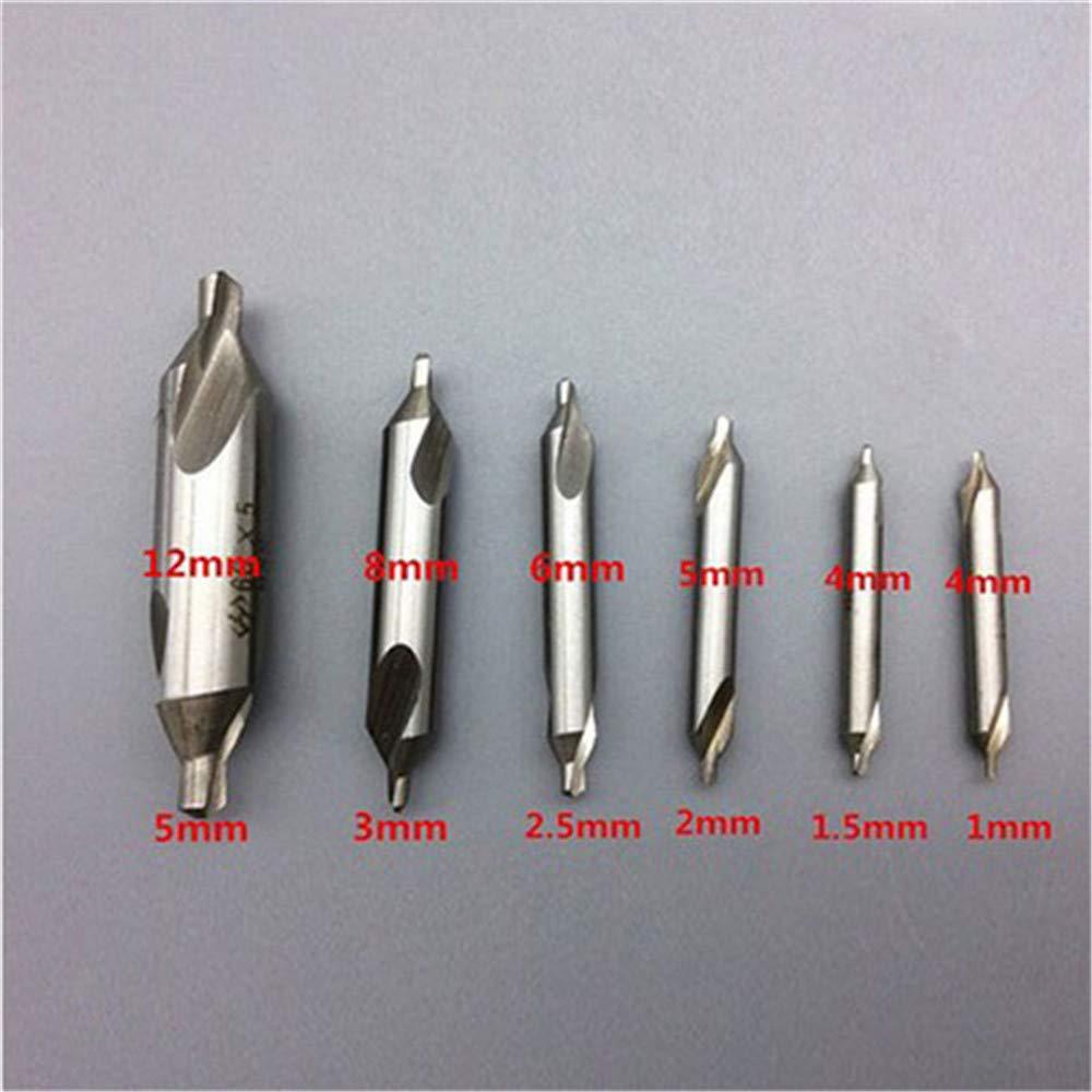 2.5//3//5 mm Broca de centro HSS de 60 grados Broca de broca avellanada Doolland 6 piezas 1//1.5//2