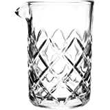 Tebery 15oz Cocktail Mixing Glass Clear - Diamond Cut Pattern