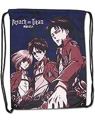 Attack on Titan Eren Levi and Armin Drawstring Bag