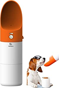 3 in 1 Dog Food and Water Bottles for Walking,Detachable Combo Cup Dogs Bottle,Cats Travel Bottle, Portable Pet Bowl Container with Drinking Feeding Hiking Dispenser, Outdoor Puppy