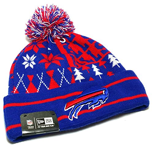 Buffalo Bills Boxed Link Ugly Sweater Cuffed Knit Pom Hat