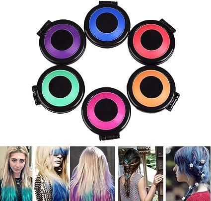 Mechas de Colores para Niñas 6 Colores Bricolaje Tinte para ...