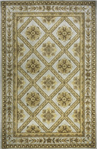 Momeni Rugs MAISOMA-11AQU96D6 Maison Collection, 100% Wool Hand Carved & Hand Tufted Traditional Area Rug, 9'6