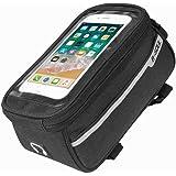 自転車 フレームバッグ トップチューブバッグ 自転車携帯ホルダー 6.0インチスマホ対応 大容量 防水 自転車用バッグ フロントバッグ iphone X/iphone 7plus/iphone 8plus/Samsung Galaxy S8+など対応