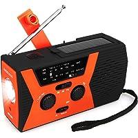 Retekess HR12W Portable Emergency Radio Solar Crank AM FM NOAA Dynamo with Reading Lamp SOS Flashlight LED Reading Lamp…