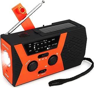 Retekess HR12W Portable Emergency Radio Solar Crank AM FM NOAA Dynamo with Reading Lamp SOS Flashlight LED Reading Lamp and 2000mAh Power Bank