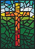 Stained Glass Cross - Cross Stitch Pattern (Not a Kit) Stitching Tips/Fabric Planning Guide included.