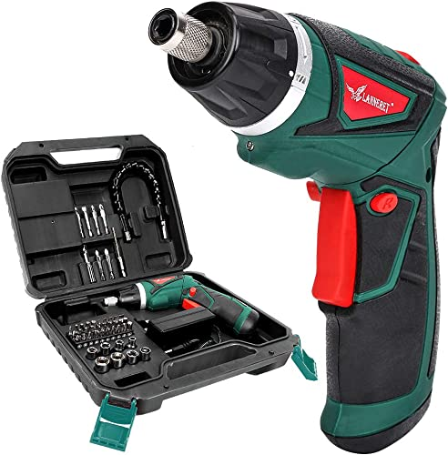 LANNERET Cordless Screwdriver Rechargeable 7.2 Volt 1500mAh Li-ion Power Screw Gun