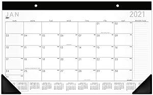 "2021 Desk Calendar, AT-A-GLANCE Desk Pad Calendar, 18"" x 11"", Compact, Contemporary (SK14X0021)"