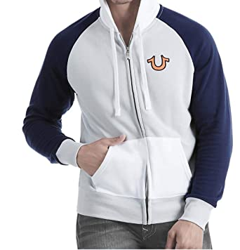 99b0a2c70de Amazon.com  True Religion Men s Mesh Active Raglan Zip Up Hoodie  Clothing