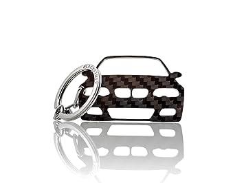 BlackStuff Carbon Fiber Keychain Keyring Ring Holder Compatible with Forester SJ 2013-2018 BS-820
