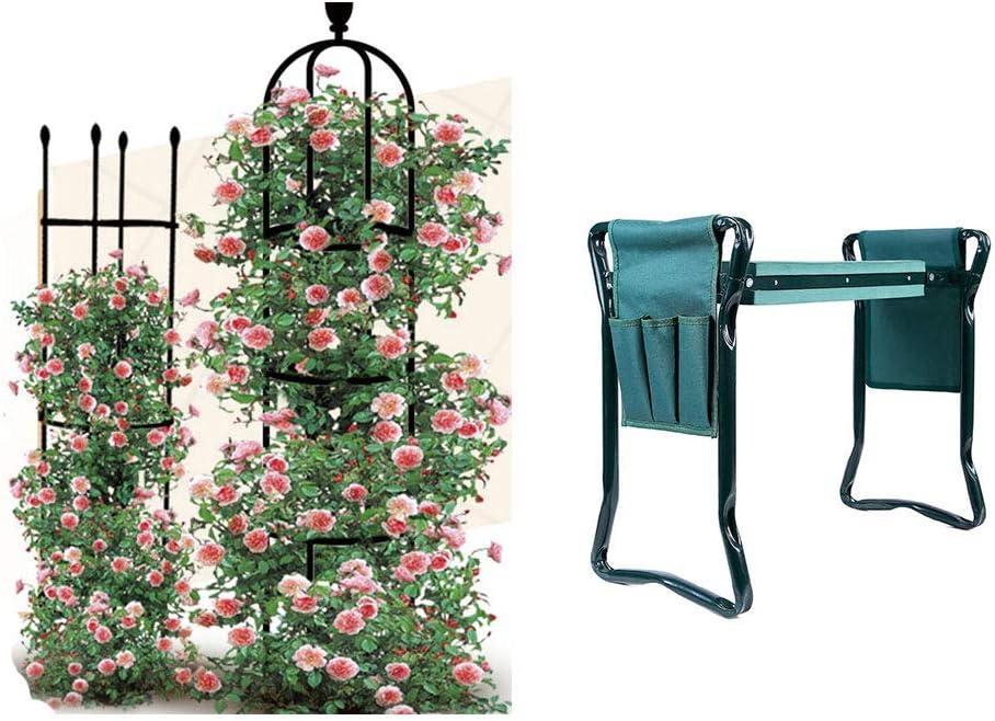 VIMOA Plant Trellis Rose Trellis Garden Trellis 2 Pack Garden Workseats Kneeler Wave Pad