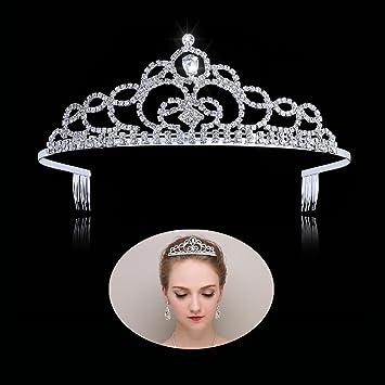 amazon com tiaras and crowns for women princess tiara with comb