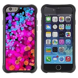 Suave TPU GEL Carcasa Funda Silicona Blando Estuche Caso de protección (para) Apple Iphone 6 / CECELL Phone case / / Lights Pink Purple Vibrant Bright /
