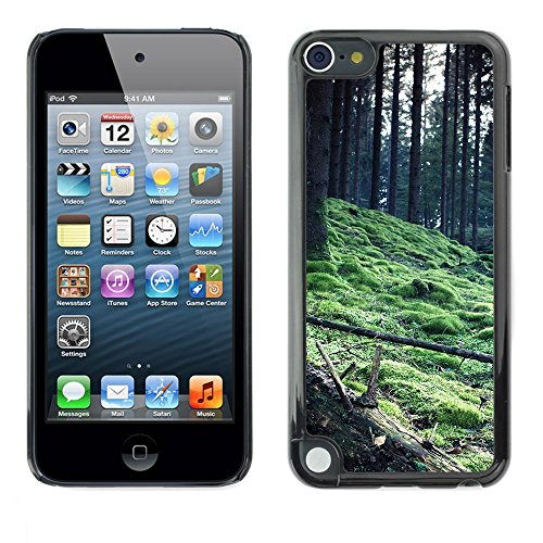 Soft Silicone Rubber Case Hard Cover Protective Accessory Compatible with Apple IPod Touch 5 - Plant Nature Forrest Flower 56
