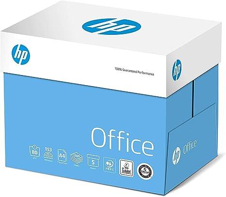 HP 87925 - Caja con 5 paquetes de 500 folios (2500 folios, A4, 80 g/m²), color blanco: Amazon.es: Oficina y papelería