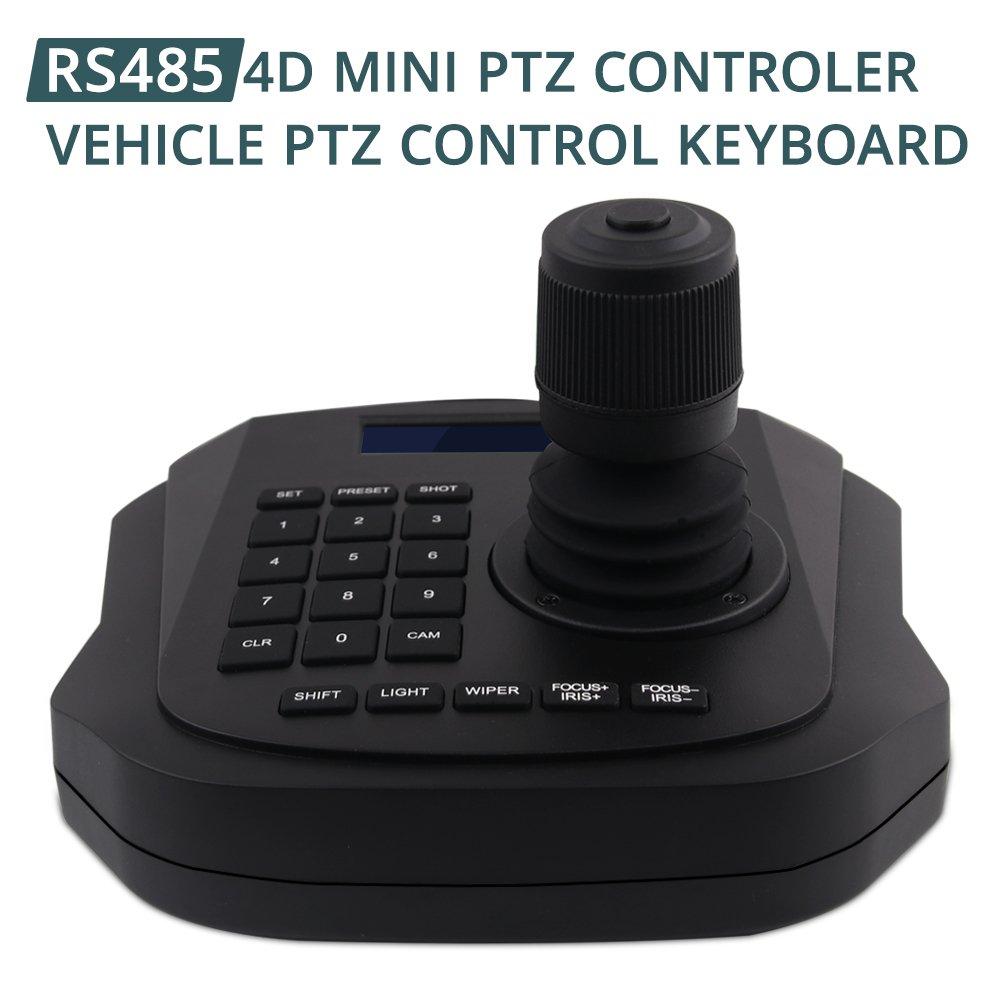 PTZ Controller,LEFTEK Vehicle PTZ Joystick CCTV Keyboard Analog Camera RS485 Controller With LCD Screen Display Menu (4D joystick controller) by LEFTEK