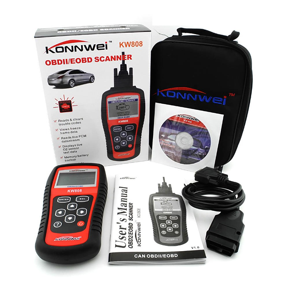 Car Scanner EOBD OBD2 OBDII KW808 Diagnostic Live Data Code Reader Check Engine Scan SaveOnMany 254