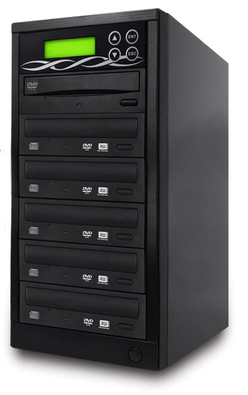 SATA DVD Duplicator - 5 Target Standalone CD / DVD Duplicator with SATA DVDRW
