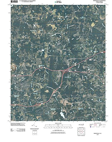 North Carolina Maps | 2010 Knightdale, NC USGS Historical Topographic | Cartography Wall Art | 35in x ()