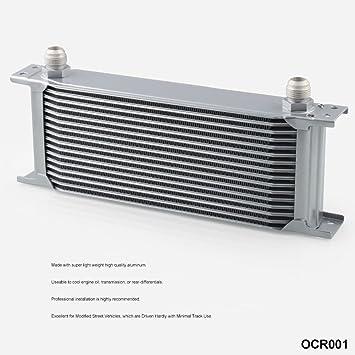 Zantec Enfriador, Radiador de Aceite de motor de transmisión automática para Motor Universal-16Filas