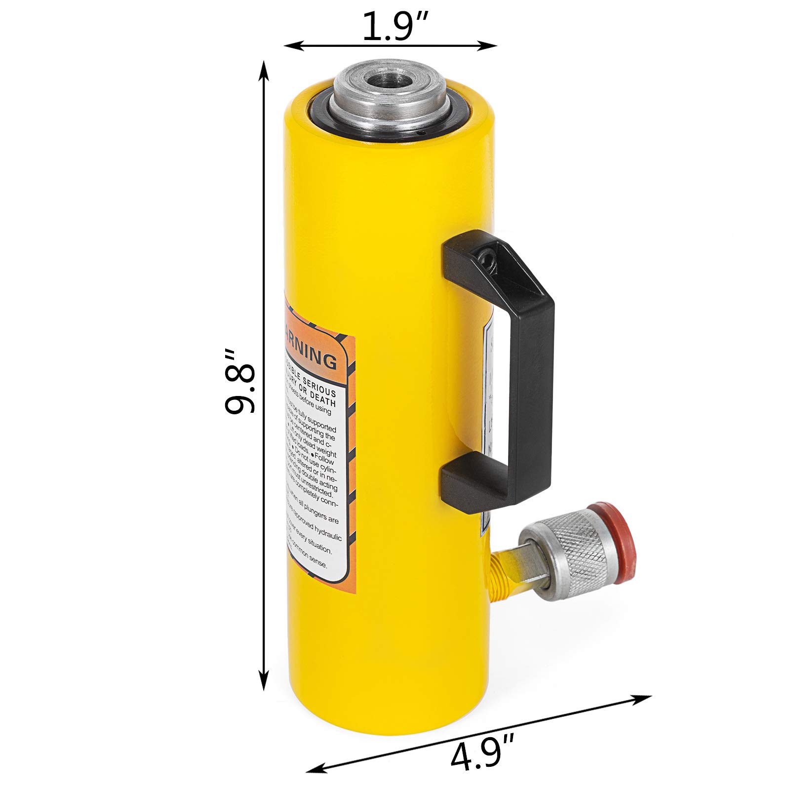Mophorn 10T 6'' Stroke Hydraulic Cylinder Jack Solid Single Acting Hydraulic Ram Cylinder 150mm Hydraulic Lifting Cylinders for Riggers Fabricators (10T 6'') by Mophorn (Image #2)