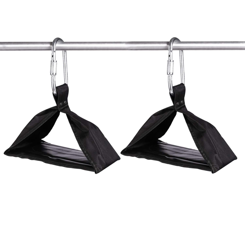 Flytool Ab Straps Core Exercise Equipment Training Gym Abdominal Hanging Straps, Black by Flytool (Image #2)