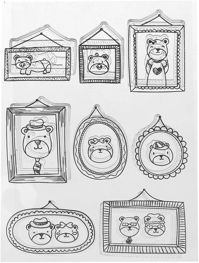 Carte d/écorative gaufrage Lyguy Tampon Transparent en Silicone avec Note de Musique pour Scrapbooking Artisanat Album Photo Cadeau Fait /à la Main