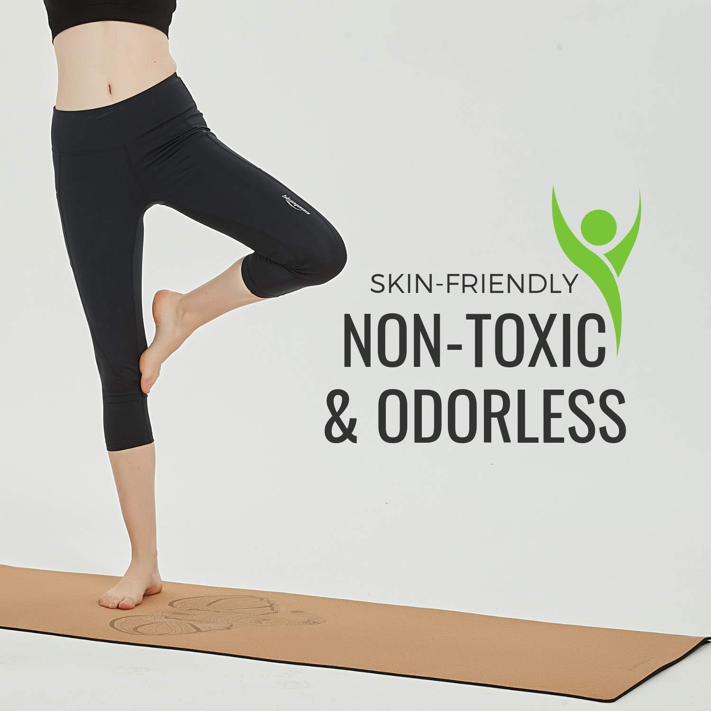 Amazon.com: Limerence - Esterilla de yoga de corcho de alta ...
