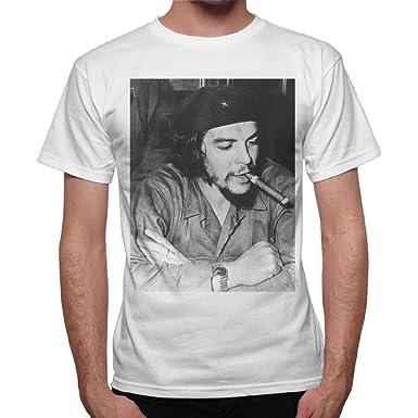 Cigare Blanc Shirt avec Homme Guevara Smoke Imprimé Ernesto Che T 84HaZcOZ
