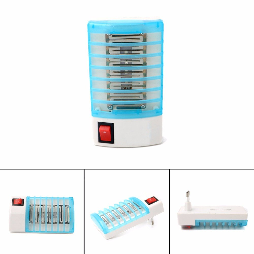 EU Home Practical LED Socket Electric Mosquito Repellent Fly Bug Insect Killer Trap Night Lamp Zapper