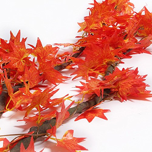 98 Inch Red Maple Ivy Artificial Greenery Chain