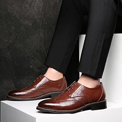 Amazon.com | VonVonCo Classical Style Mens Breathable Hollow Business Casual Pointed Shoes | Shoes