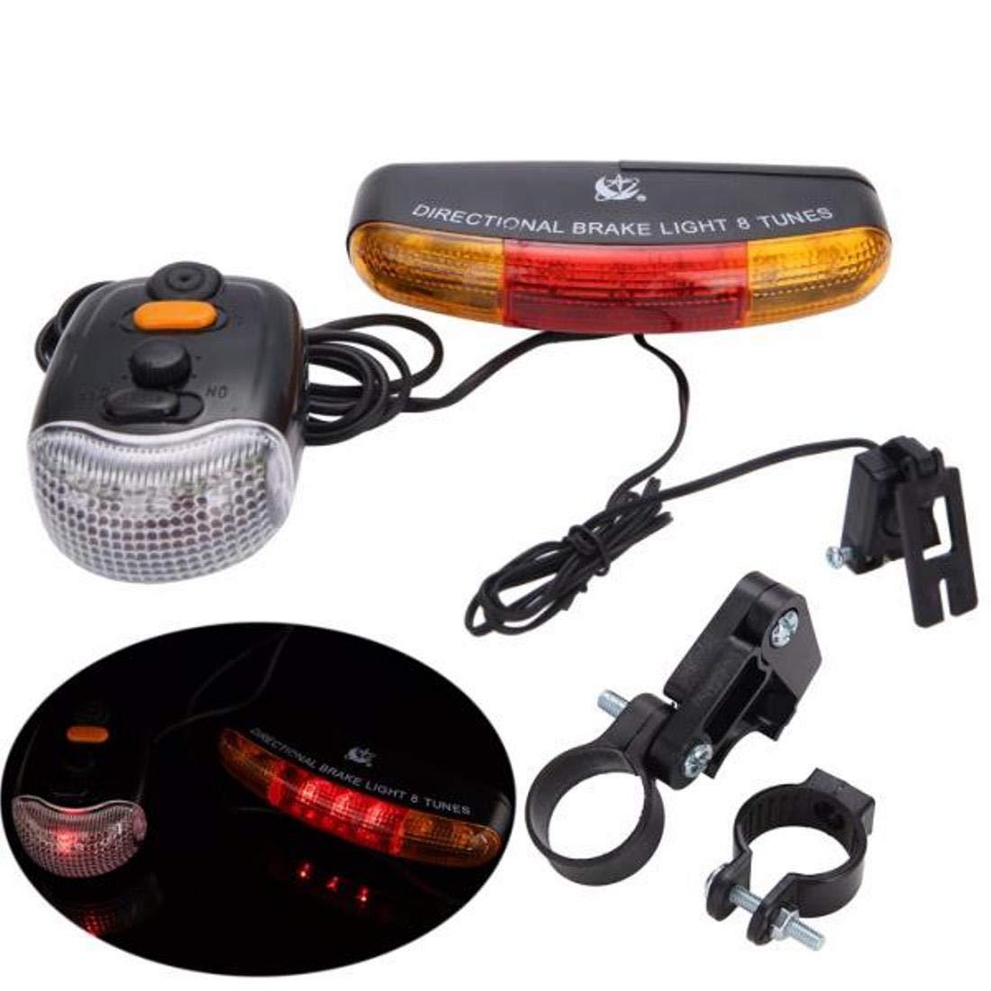 LED Bike Bicycle Cycling Tail Rear Turn Signal Light Lamp Indicators w//Horn MU#