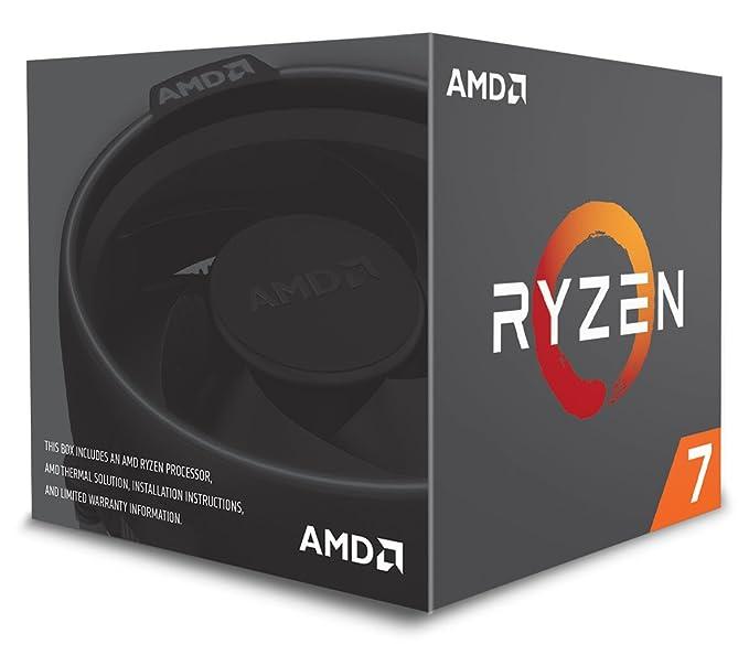 AMD Ryzen 7 2700 - Procesador con disipador de calor Wraith Spire LED (20 MB, 8 núcleos, velocidad de 4.10 GhZ, 65 W)